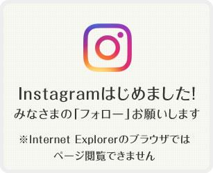Instagramはじめました!みなさまの「フォロー」お願いします